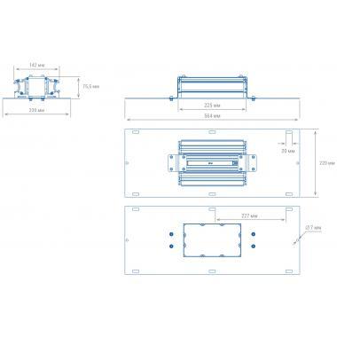 АЗС светильник TL-PROM 55 AZS Plus 5K D