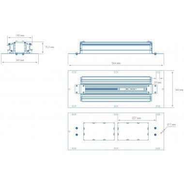 АЗС светильник TL-PROM 90 AZS Plus 4K D